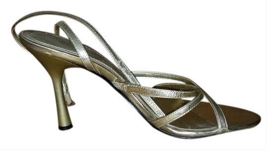 Nine West Strappy Gold Sandals