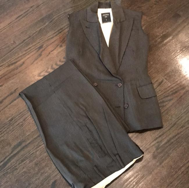 Jean-Paul Gaultier Pinstriped vest double breasted jacket with matching pants.