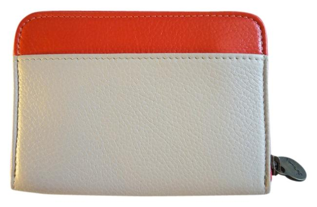 Item - Red White New Leather Zip Around Wallet