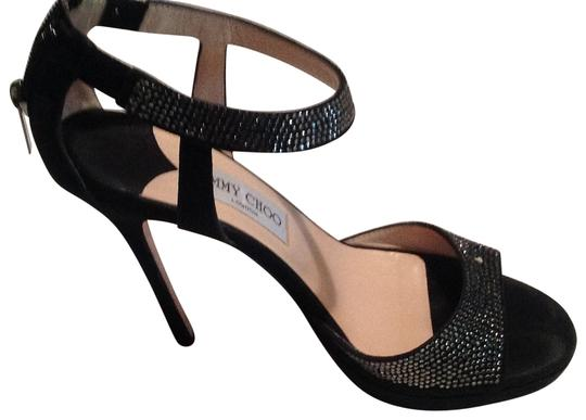 Preload https://item2.tradesy.com/images/jimmy-choo-black-strappy-sequin-sandals-375-formal-shoes-size-us-75-31911-0-0.jpg?width=440&height=440