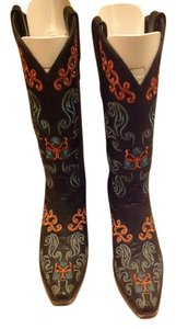 Lane Bryant Black,teal and orange Boots