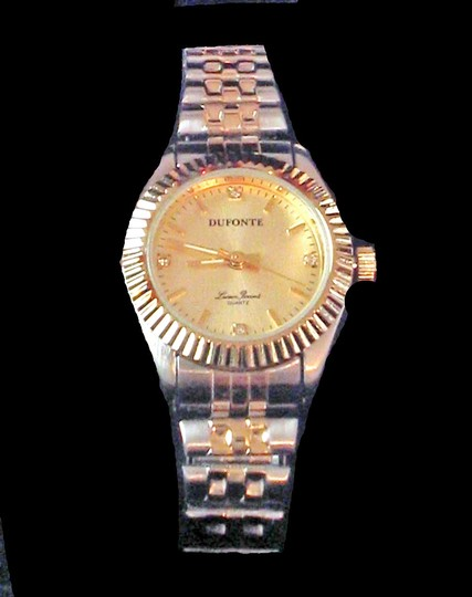 Lucien Piccard Ladies Dufonte Silver and Goldtone Watch with Diamond Accents by Lucien Piccard
