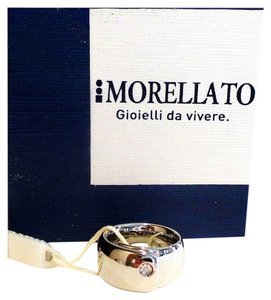 Morellato Morellato Highly Polished Diamond Accented Silver Ring Size 7
