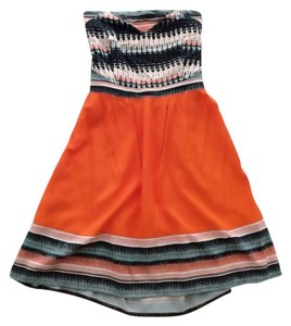 Silence + Noise short dress Orange on Tradesy