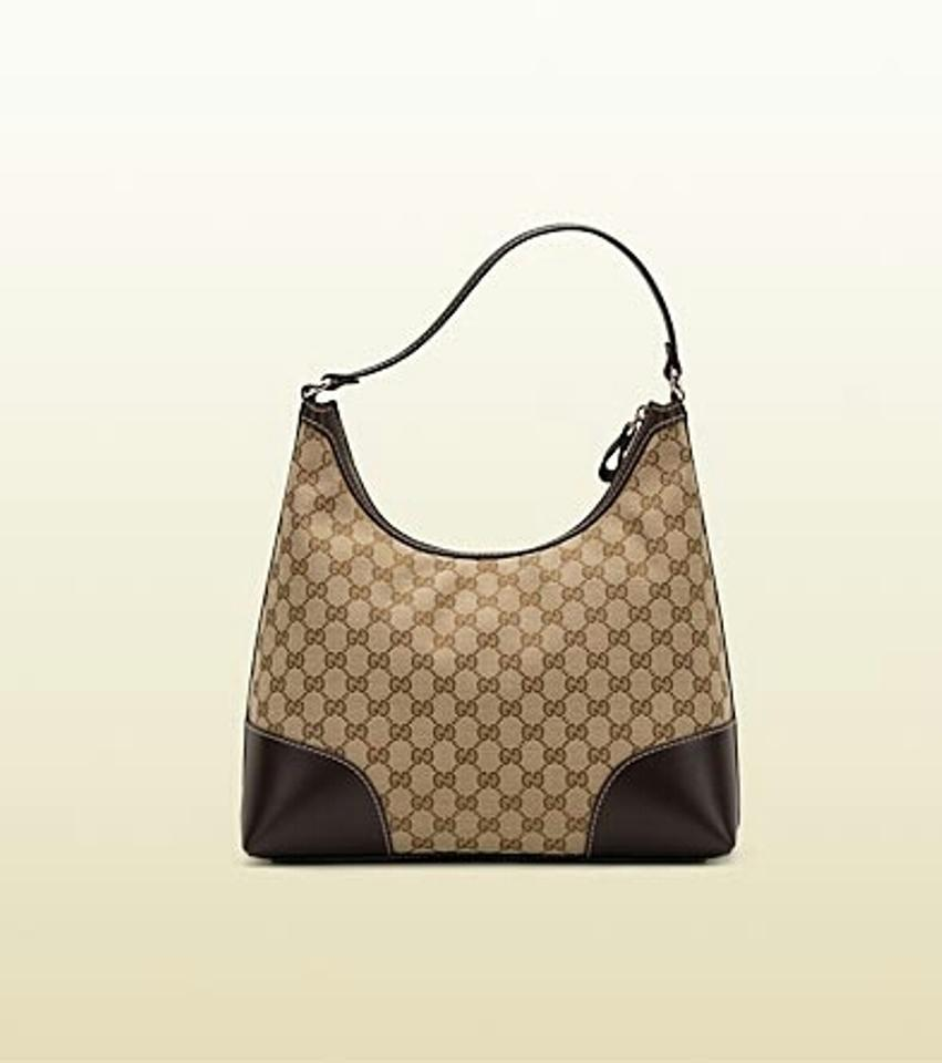 185aa898f99 Gucci Lovely Medium with Heart-shaped Interlocking G Detail Beige Brown Gg  Monogram Hobo Bag