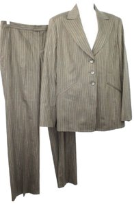 Ellen Tracy LINDA ALLARD ELLEN TRACY STRIPES WOOL BLEND PANT SUIT 14