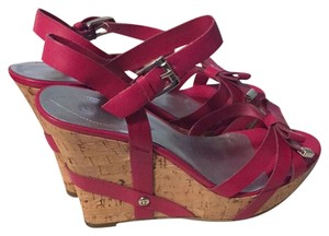 Guess Dark Pink Wedges