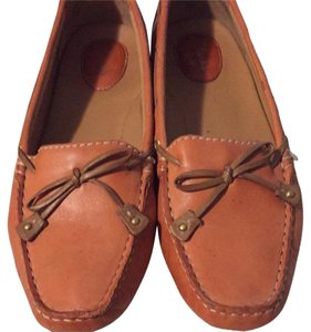 Clarks Orange Leather Flats