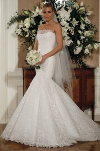 Legends By Romona Keveza Strapless Mermaid Gown In Lace Wedding Dress