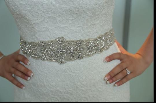 White Lace & Sequin Legends By Strapless Mermaid Gown In Formal Wedding Dress Size 4 (S)