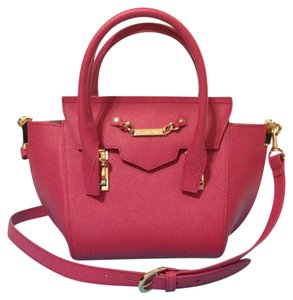 Samantha Thavasa Satchel in Hot Coral Pink