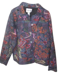 Chico's multi color floral design Jacket