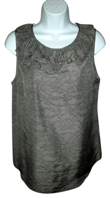 Theory Silk Top Gray