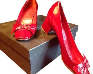 Sigerson Morrison Nwt Never Worn Red Pumps