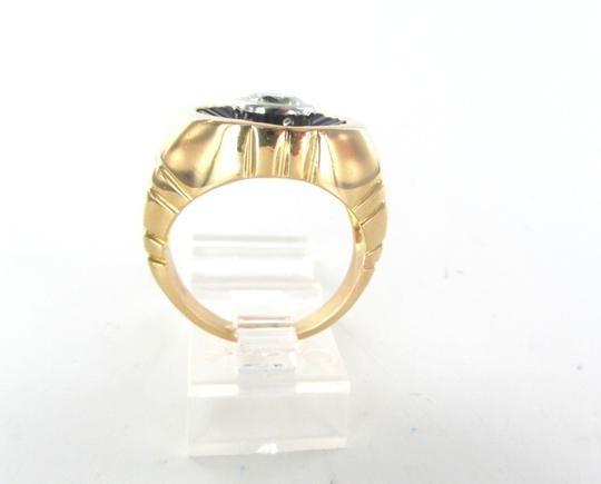 Other 18KT SOLID YELLOW GOLD 1 DIAMOND 1 CARAT 21 BLUE SAPPHIRES 21.3 GR RING SZ 9.5