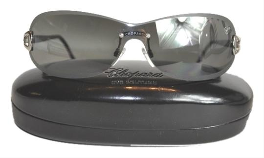 Chopard Chopard Eye Couture Shield Women's Mirror Gradient Sunglasses with Case, Cloth