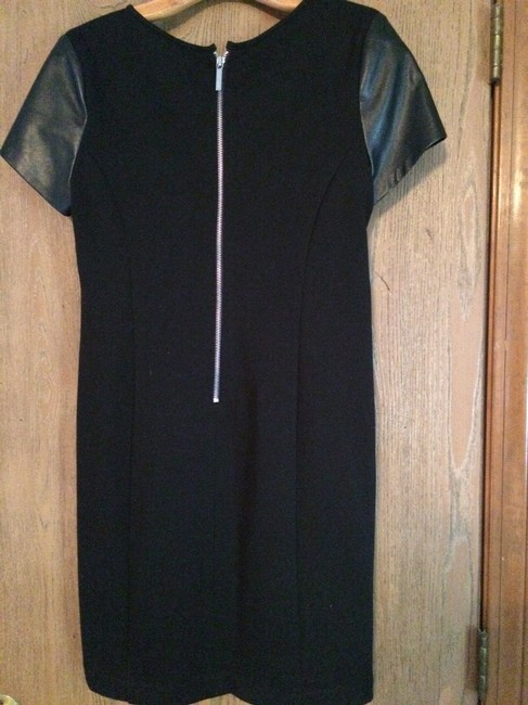 Michael Kors short dress Black Leather Exposed Zippers on Tradesy