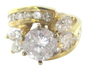 14KT SOLID YELLOW GOLD DIAMOND 2.30 CARAT WEDDING BAND SOLITAIRE SZ 7 SDC RING