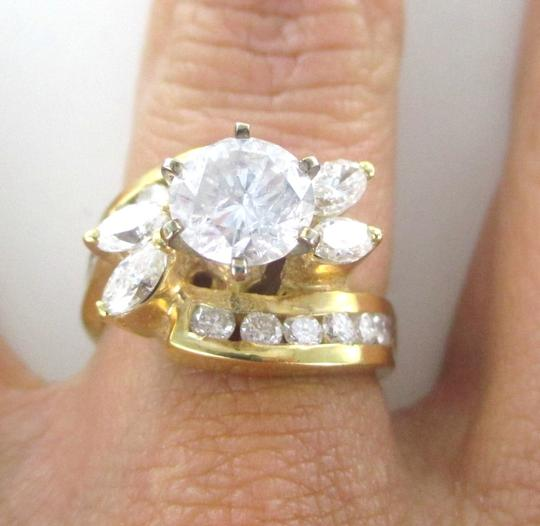 Other 14KT SOLID YELLOW GOLD DIAMOND 2.30 CARAT WEDDING BAND SOLITAIRE SZ 7 SDC RING