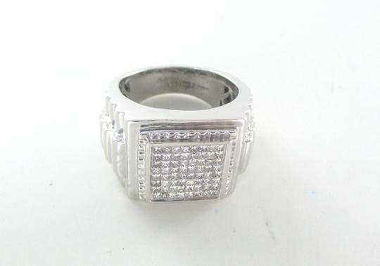 Other 14KT WHITE GOLD 64 DIAMOND 1.50 CARAT CLUSTER RING SZ 10.5 SQUARE MEN 21.3 GRAM
