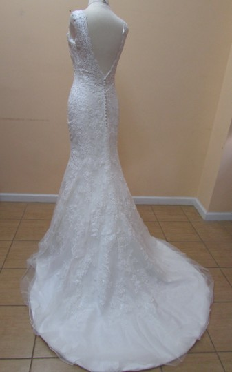 Mori Lee Ivory Lace 2714 Formal Wedding Dress Size 4 (S)