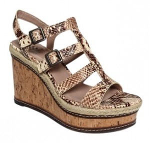 Vince Camuto Multi-Snakeskin Wedges