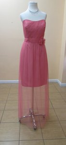 Alfred Angelo Carnation Soft Net 8619s Modern Bridesmaid/Mob Dress Size 8 (M)