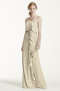 David's Bridal Champagne F14336 Dress