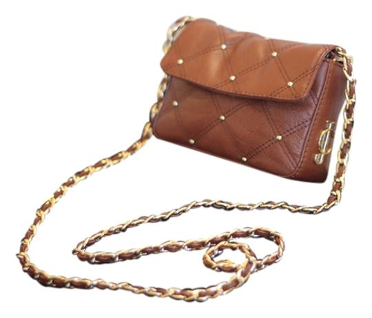 Juicy Couture Stud Quilted Flap Woc Clutch Cross Body Bag