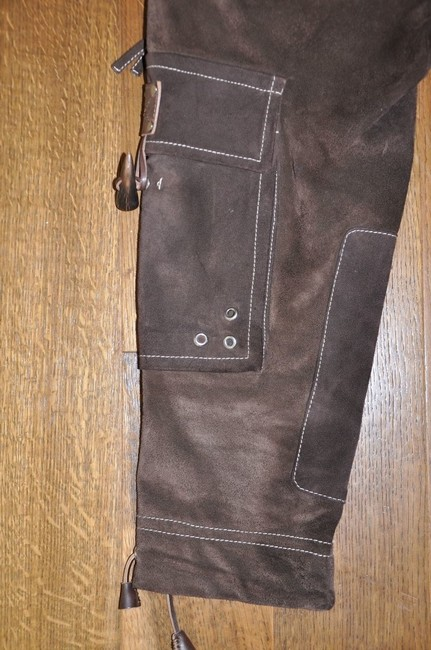 Dsquared2 Chocolate Suede Crop Buckle Pants Size 40 Capris Brown