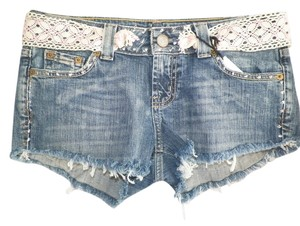 Other Jean Eco Green Clothing Green Fashions Vintage Hippie Punk Trailer Trash Eco Friendly Upcycled Affordable Fashion X Cut Off Shorts Lt. denim