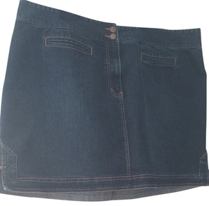 Venezia by Lane Bryant Skirt Medium Wash Denim