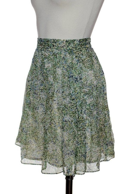 J.Crew Chiffon Silk Mini Skirt Green