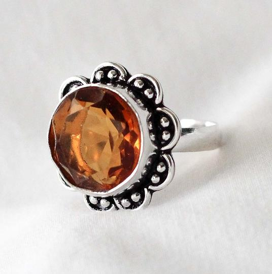 7 Real Smoked Topaz set in sterling silver ring 7 Real Smoked Topaz set in sterling silver ring