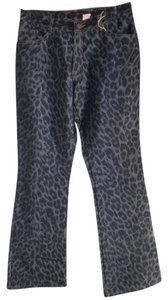 Joy Upcycled Fashions Women Jeans Relaxed Pants animal print Dark blue