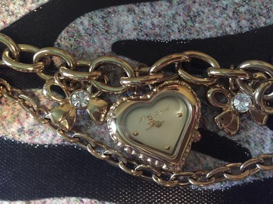 Betsey Johnson Watch and Charm Bracelet