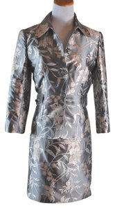 Dolce&Gabbana Skirt Suit Jacket Silk Floral Brocade 2 Piece Set Size 40