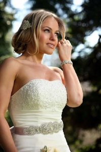 Valeria Wedding Bridal Dress Gown Beaded Jeweled Crystal Belt Embellishment