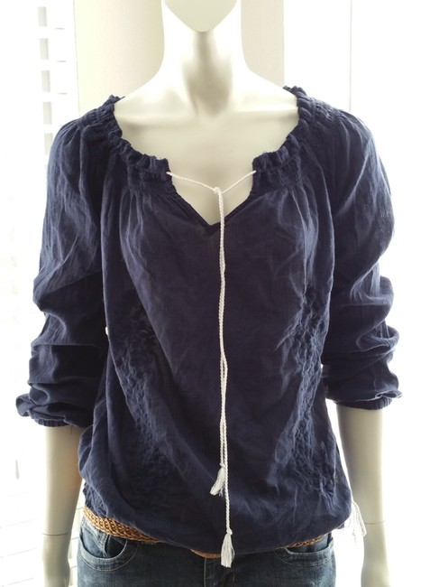 Tommy Hilfiger New Tags Never Been Worn Top Navy blue with white draw string
