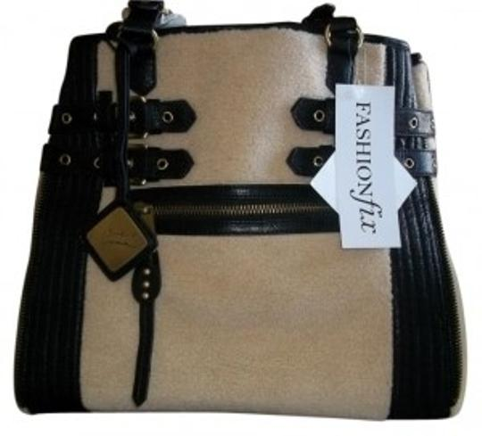 Preload https://item2.tradesy.com/images/mark-and-james-by-badgley-mischka-paige-black-leather-and-faux-shearling-tote-31981-0-0.jpg?width=440&height=440