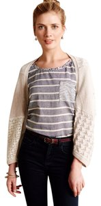 Anthropologie Patched Lace Crochet Bolero Cardigan