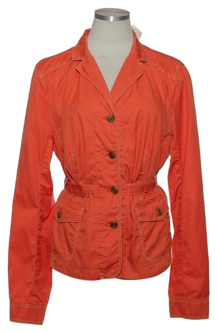 Item - Orange Utility Belted Jacket Size 12 (L)