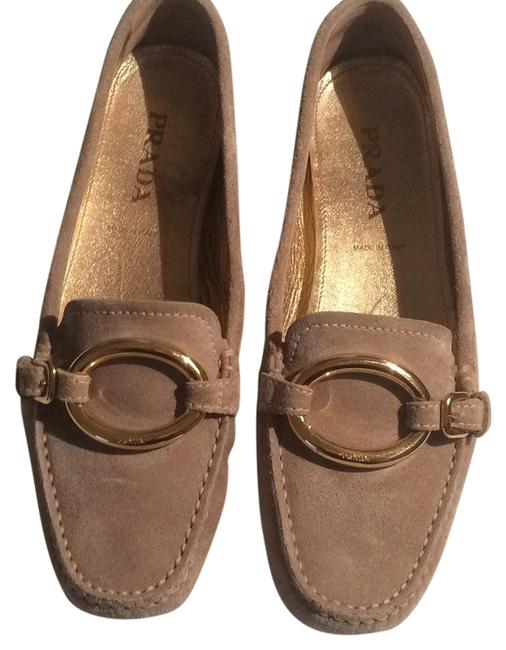 Prada Taupe Scamosciato City Loafer Flats Size US 7 Image 1