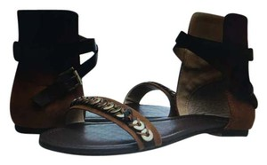 JOE'S Jeans Leather Suade dark tan/brown Sandals
