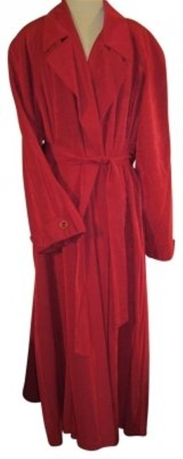 Preload https://item1.tradesy.com/images/gallery-deep-scarlet-red-long-belted-trench-coat-size-22-plus-2x-31990-0-0.jpg?width=400&height=650