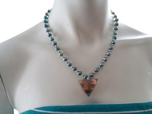 Other Teal Pearl Necklace