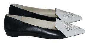 Michael Kors Optic White and Black Flats