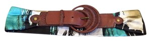 Anthropologie Fabric and leather Belt