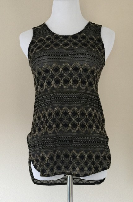 Other Nwot Top Black and Metallic Gold