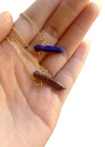 Free People titanium rainbow necklace
